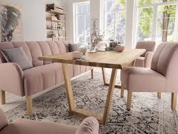 Wildeiche Esstisch Mit Natürlicher Baumkante 220x100 Cm