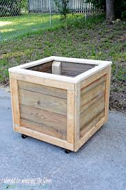This DIY Planter Box with Wheels is perfect for any patio or garden area. It