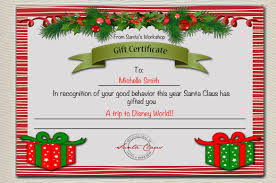 Printable Christmas Certificates Christmas Gift Certificate Template 100 Word PDF Documents 17