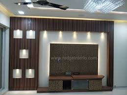 Charcoal Sheet Wall Design Tv Unit Designed For 2bhk Use Of Charcoal Sheet Paneling