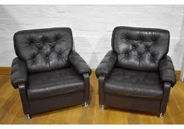 pair of vine retro danish on back pair of armchairs