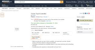 Pre-orders Lists Oculus Release Amazon Possible Touch Starts And Date Price