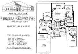 3 Bedroom, 1 Story House Plans