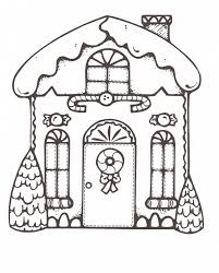 Small Picture Coloring Pages Xmas Gingerbread House Coloring Page Free
