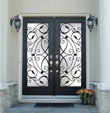 elegant double front doors. Black Double Front Entry Doors With Antique Sidelights And Iron Knob Also Artistic Design Great Home On The Elegant