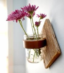 DIY Mason Jar Vases - DIY Rustic Mason Jar Sconce - Best Vase Projects and  Ideas