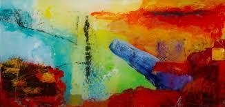 modern abstract acrylic painting on plexiglass