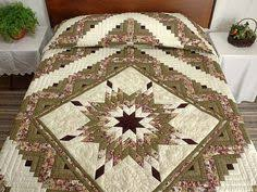 Lone Star Quilted Table Runner | Awesome, By and On & Moss and Purple Lone Star Log Cabin Quilt Photo 1 Adamdwight.com
