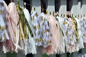blush pink gold white and gold polka dot tassel garland gender reveal decor baby girl shower wedding decoration bridal shower decor