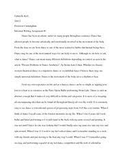 dance critique essay kott gabrielle  2 pages informal writing 1