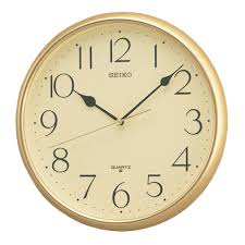 seiko gold colour wall clock qxa001g