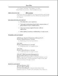 Business Internship Objective Resume Good For Receptionist
