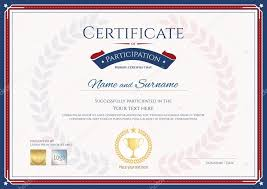 Certificate Of Participation Templates Certificate Of Participation Template In Sport Theme With