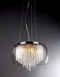 chandelier odysseus chrome and crystal 5 light ceiling fixture pendant modern