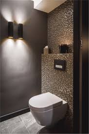 Badewanne Fliesen Luxus Idee Gäste Wc Mosaik Glimmer Dunkle Wände At