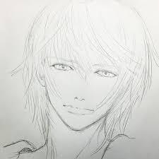 先週のマンガ教室でのお絵かき 久々に男子絵 Illustration Drawing