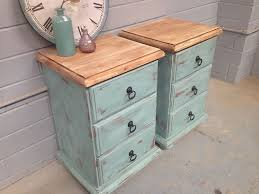 2x shabby chic bedside tables french drawers vintage rustic beach style ebay beach theme furniture 1000