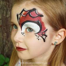 spider man inspired face painting