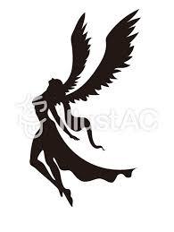 天使シルエット 4イラスト No 1348184無料イラストならイラストac