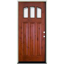 pella doors craftsman. Craftsman 3 Lite Arch Stained Knotty Pella Doors