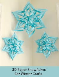 paper snowflakes 3d how to make 3d paper snowflakes for winter crafts diy home life