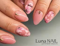 桜ネイル 上品ピンクが素敵ˊᵕˋ੭ ネイルジェル