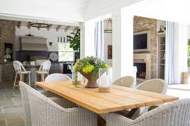 outdoor table lighting ideas. Outdoor Dining Table With Gray Wicker Chairs Transitional Within Light Wood Remodel 8 Lighting Ideas
