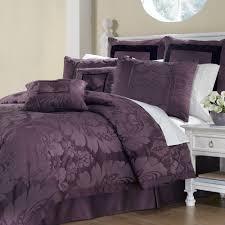 Plum Purple Bedroom Lorenzo Damask 8 Pc Comforter Bed Set Comforters Bed Great