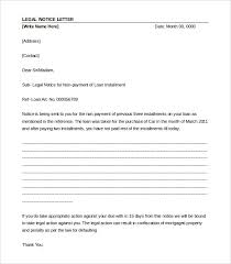 legal letter word pdf documents professional legal notice letter template
