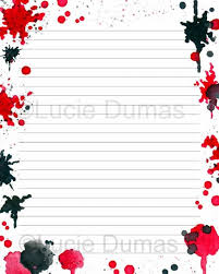 Lined Page Template Delectable Digital Printable Journal Page Stationary 48x48 JPG Download Etsy