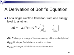 a derivation of bohr s equation