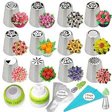 Russian Piping Tips 27pcs Cake Decorating Supplies Flower Shaped