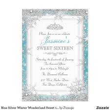 Winter Wonderland Sweet 16 Party Invitations Vintage Teal Sweet 16