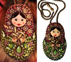 a russian matryoshka doll necklace accessories by hanna bernhard french jewelry designers