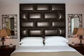 bedroom decoration interior precious glossy leather upholstered wall panels for masculine upholstered headboard panels design upholstered wall panels with