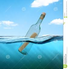 letter in a bottle bottle with a letter from the wreck stock image image of outdoors