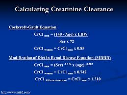 calculating creatinine clearance