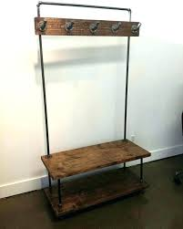 Black Pipe Coat Rack diy coat rack with bench kolobok 23