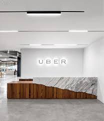 Uber, reception desk.