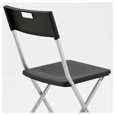 Gunde Folding Chair Black Ikea