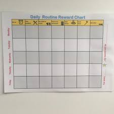 Daily Routine From The Time Your Child Wakes Up Until Sleep Time Build Up A Routine Reward Charts For Preschoolers Early Years Home Learning