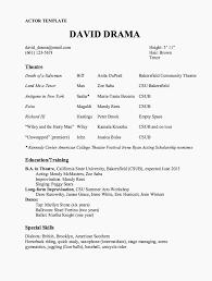 Actor Resume Template Sample Resume Recent College Graduate Resume