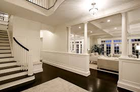 half table for hallway. Half Moon Hallway Table Entry Traditional With Wood Floor Seating Area Pendant Light For O