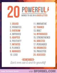 Resume Power Phrases Adorable 48 Powerful Words To Use In Your Cover Letter Be Inspired