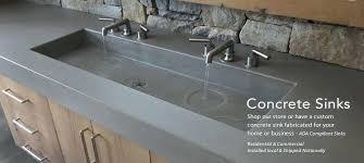 cement bathroom sink custom concrete sink for the bathroom in how to make a concrete sink decorating