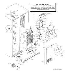 ge model esf25lgrdcc side by side refrigerator genuine parts