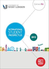 list of prospectus from tier 4 sponsors uk universities university of west london s international student prospectus for 2013