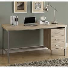 Taylor Hollow-Core Office Desk <b>Silver Metal</b> and <b>Natural</b> Reclaimed ...