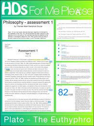Hd A University Essay Philosophy Plato Professo