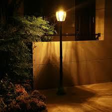 Orange Garden Lights Energy Saving Solar Outdoor Yard Lamps In Three Heights